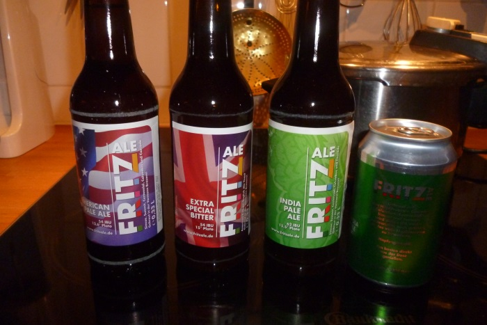Biere Fritzale: IPA (Indian Pale Ale), APA (American Pale Ale), ESB (Extra Special Bitter)